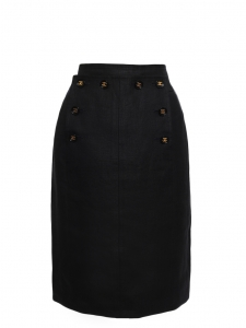 Black linen sailor skirt Retail price €1800 Size XS/S
