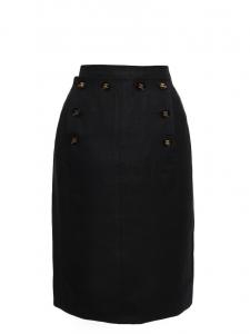 Black linen sailor skirt Retail price €1800 Size XS/S