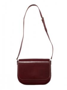 LEA Dark burgundy vegetable leather cross-body bag NEW Retail price €620