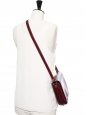 LEA Dark burgundy vegetable leather cross-body bag NEW Retail price €620