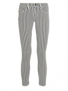 Jean skinny CAPRI rayé noir et blanc Prix boutique 165€ Taille XS