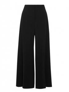 Black jersey cropped wide-leg pants Retail price €620 Size 36