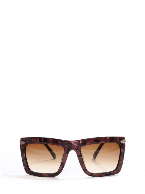 DERBY DOOMSDAY Burgundy and pink oversized frame sunglasses NEW Retail price €250