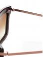 Lunettes de soleil DERBY DOOMSDAY monture bordeaux et rose NEUVES Prix boutique 250€