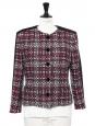 Checked wool tweed blazer jacket Retail price €1500 Size 38