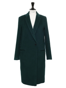 GOLD Green wool and cashmere coat Retail price €425 Size S