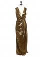 Robe longue ISADORA en lamé de soie doré Prix boutique 850€ Taille 36