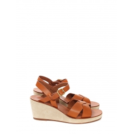 Fawn leather and suede wedge sandals NEW Retail price €290 Size 39
