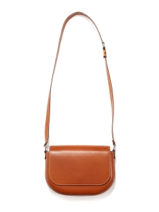 JAMES Nutmeg brown vegetable leather cross-body bag NEW Retail price €470