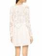 CLOUD DANCER White cotton lace long sleeved dress Retail price €510 Size S