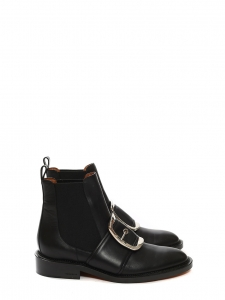 TINA Black leather buckle-embellished ankle boots NEW Retail price €1100 Size 39