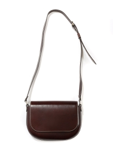 JAMES Mahogany brown vegetable leather cross-body bag NEW Retail price $690