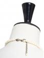 Collier plastron en perles blanc ivoire