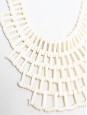 Ivory white beads collar bib necklace
