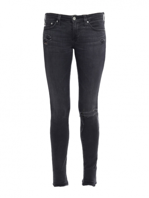THE LEGGING Anthracite grey denim skinny jeans Retail price €180 Size XS