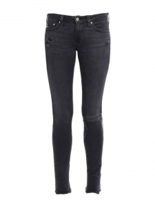 Jean skinny THE LEGGING en de nims stretch gris anthracite Prix boutique 180€ Taille XS