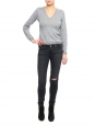 Jean skinny THE LEGGING en denim stretch gris anthracite Prix boutique 180€ Taille XS