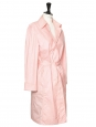Pastel pink cotton trench coat Retail price €350 Size S