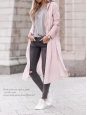Manteau trench en coton rose pâle Prix boutique 350€ Taille S