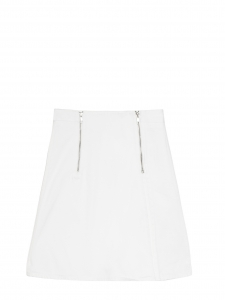 White denim zipped trapeze CASTLE skirt Retail price $220 Size 38