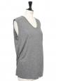 Sleeveless light grey round neck t-shirt NEW Size XS