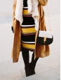 Sac DREW medium en cuir noir et blanc chaîne dorée Px boutique 1500€