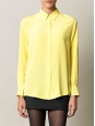 Citrus yellow silk long sleeves shirt Retail price €270 Size 38