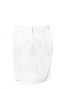 Ivory cream low waist fluid skirt Retail price €300 Size 38