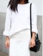 Ivory cream low waist fluid skirt Retail price €300 Size 38