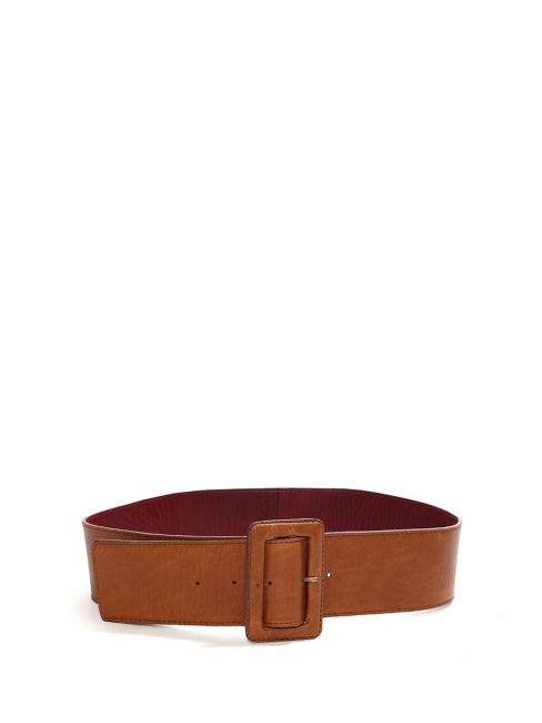 Camel brown leather large belt Size S