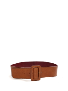 Camel brown leather large belt Size S