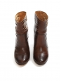 Fawn brown cut-out leather ankle boots Retail price €750 Size 41