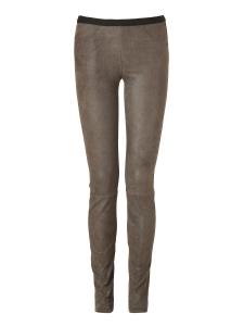 Grey patina stretch leather leggings Retail price €995 Size XS