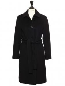 Manteau CLAIRETTE en laine vierge, angora et cashgora noir Prix boutique 550€ Taille 38