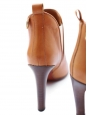 PIPER Tan leather heeled ankle boots Retail price €640 Size 36