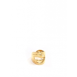 ESTELLE Gold-tone brass ring NEW Retail price €80 Size 54