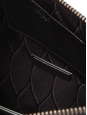 Black leather FIRE zipped clutch NEW Retail price $460