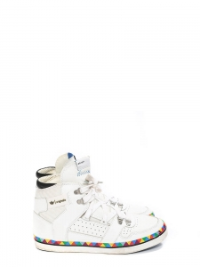 HARDLAND G51682 White and multicolored high top sneakers Size 40