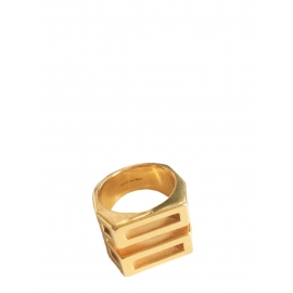 Golden brass BIANCA ring Retail price €230 Size 56
