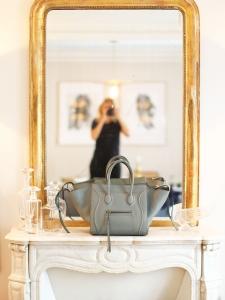 Matte grey smooth leather Medium LUGGAGE PHANTOM handbag NEW Retail price €2400