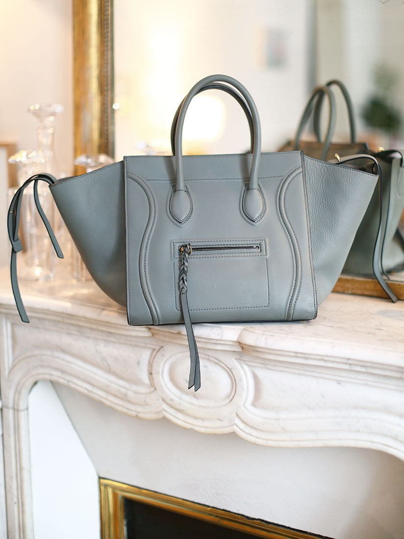 Sac LUGGAGE PHANTOM Medium en cuir lisse gris NEUF Px boutique 2400€ ... d127287ac7