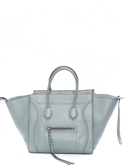 Sac LUGGAGE PHANTOM Medium en cuir lisse gris Prix boutique 2400€
