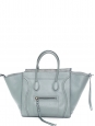 Matte grey smooth leather Medium LUGGAGE PHANTOM handbag Retail price €2400