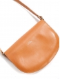 Natural beige vegetable leather cross body bag
