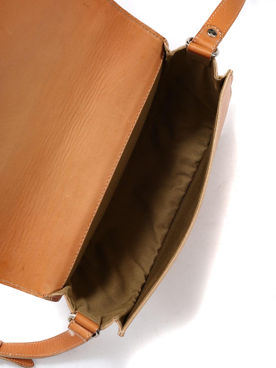 5126008f8f Louise Paris - APC Sac à bandoulière besace en cuir végétal beige ...