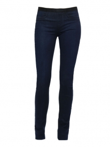 Dark blue coated stretch legging pants NEW Retail price €250 Size XS