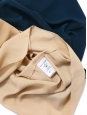 Top débardeur évasé en crêpe de soie bleu paon Prix boutique 390€ Taille 38