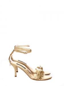 Sandales à franges en cuir doré Px boutique 650€ Taille 35,5