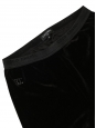 Black velvet legging pants Retail price €1090 Size S