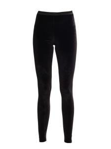 Black velvet legging pants Retail price €1090 Size S